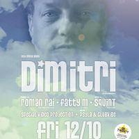 """""""Papa house music"""" Dimitri už v pátek 12. 10 na Flow v ROXY!"""