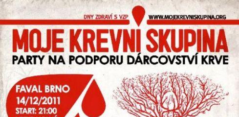 Párty na podporu dárcovství krve v Brně